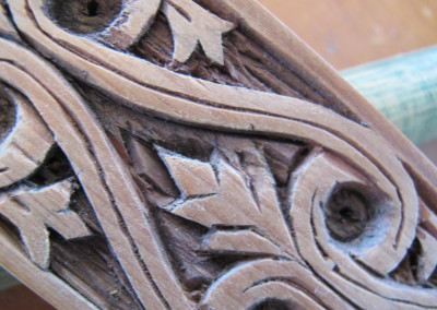 Traditional Carving on Norwegian 'Mangle' Iron