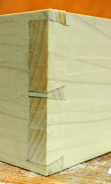 Through and Half-Blind Dovetails